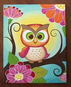 3 canvas set of owl paintings Big size by Leilasartcorner on Etsy Pintura Country, Wal Art, Owl Crafts, Baby Owls, Cute Owl, Painting Inspiration, Painting & Drawing, Canvas Art, Baby Canvas