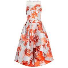 8d3f2c9a1310 Coast Aurora Jacquard Midi Dress, Multi featuring polyvore women's fashion clothing  dresses white jacquard dress midi dress midi day dresses mid calf ...
