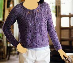 Crochet: veste Violet