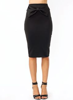 Bow Down Pencil Skirt