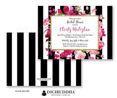 BRIDAL SHOWER INVITATION Bridal Shower Invite by digibuddhaPaperie