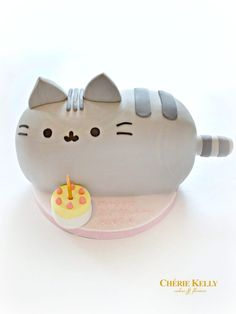 Pusheen Cat Birthday Cake Cherie Kelly London