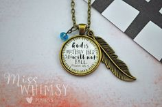 Psalm 46:5 God is Within Her She Will Not Fall Christian Scripture Necklace