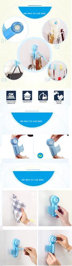 Neu Krake Handtuch Badezimmer Wand Zahnbürstenhalter Saugnapf Aufhänger Haken