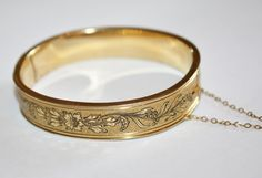 Victorian Brides  Bracelet Enamel  Bangle Hinged 10kt by patwatty, $65.00