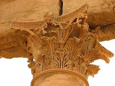 Palmyra Syria, Roman Architecture, Ancient Ruins, History Photos, Corinthian, Stone Work, Medieval, Lion Sculpture, Statue