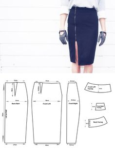 DIY Winter Woolly Pencil Skirt