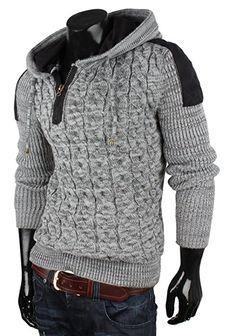 HERREN Tazzio Pullover 130722 Grau Schwarz,GRÖSSE S