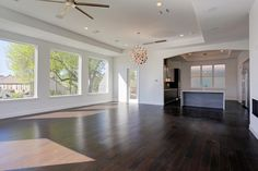 2425 C Nantucket Houston, TX 77057: Photo Second level living/dining/kitchen - shown with wood floor option