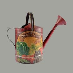 Hand Painted Watering Can Watering Can, Somerset, Hand Painted, Canning, Antiques, Antiquities, Antique, Home Canning, Conservation