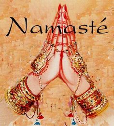 """The Literal Meaning / Translation of the Classical Indian Greeting: 'Namaste' - """"May the Divine Light in me greet the Divine Light in you. Art Bouddhique, Zen Art, Buddha, India Culture, African Culture, Divine Light, Sanskrit, Yoga Meditation, Kundalini Yoga"""