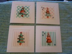Cinnamon cat Christmas cards - just found this presumably pinned by the lady who stitched them. I so love to see people stitching my designs.