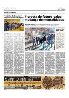 Reportagem publicada no Diário de Coimbra de 5 de Dezembro 2017 sobre a visita de investigadores do ISA ( CEF e CEABN ) à área ardida de Oliveira do Hopsital