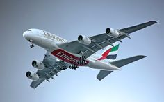 """""""Emirates, the national carrier of UAE"""" Emirates Airbus A380 Jet Aircraft"""