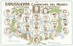 Uruguay team for the 1928 Olympic Games.