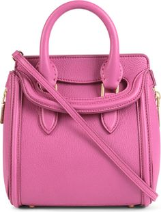 Alexander Mcqueen Heroine Mini Leather Crossbody Bag in Pink (Bright pink)