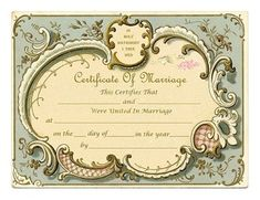 Amazing victorian blank marriage certificate graphics fairy keepsake marriage certificates free graphics and printables trulytruly yadclub Choice Image