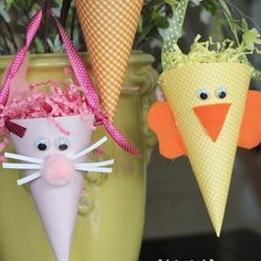 Cone Critter Easter Baskets | Giverslog Wrap a Gift