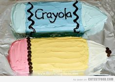 Crayon Cake~ Joey thinks this looks super cool♥