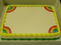 Rainbow Sheet Cake DQ Dairy Queen Cake at Park Place, St. Louis Park, MN