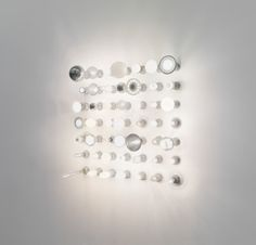 Work No. 1698 2013 Lightbulbs and fixtures 34 x 35 x 11 3/4 inches (86.4 x 88.9 x 29.8 cm)