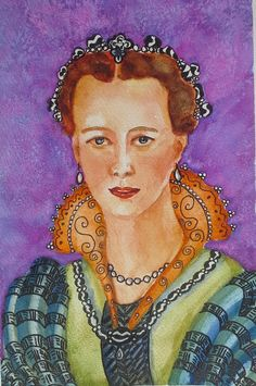 princess-19x29cm.jpg (Painting) by Agnes Mclaughlin