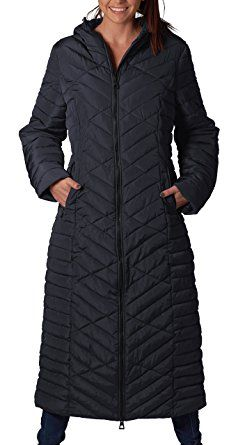 48cf04006b0 ELORA Women s Winter Heavy Quilt Jacket Maxi Puffer Long Coat (Full Length  HSP 49″) With Hood Review