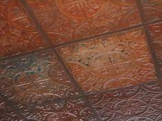 Stamped tin for kitchen ceiling and/or backsplash.