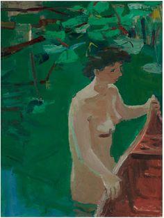 ~David Park~  Woman and Canoe  (1955)