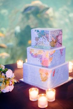 Wedding Atelier or Wedding Wishes Message For Cousin only Wedding Cakes In Queens beneath Wedding Cake Toppers New York City outside Wedding Cake Halloween Ideas Zombie Wedding Cakes, Unusual Wedding Cakes, Cool Wedding Cakes, Cute Cakes, Pretty Cakes, Beautiful Cakes, Map Cake, Cake Art, Travel Cake