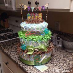 Ninja Turtles Diaper Cake By Elizabeth