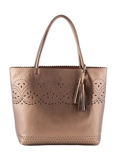 Buco Large leather punch hole tote