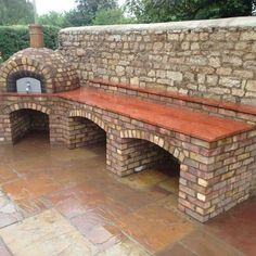 Get cooking on your awesome outdoor kitchen design ideas. See more ideas about outdoor kitchen design ideas, outdoor kitchen design plans, outdoor kitchen design for small space. Outdoor Cooking Area, Pizza Oven Outdoor, Backyard Kitchen, Outdoor Kitchen Design, Outdoor Kitchens, Brick Bbq, Outdoor Stone, Small Space Kitchen, Small Spaces