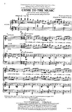Come to the Music (SATB ) by Joseph Martin| J.W. Pepper Sheet Music
