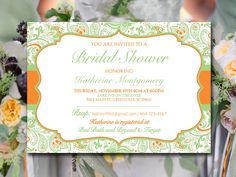 Bridal Shower Invitation Template Wedding от PaintTheDayDesigns
