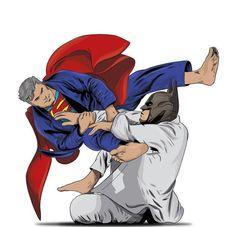 Brazilian Jiu jitsu , Batman , Superman