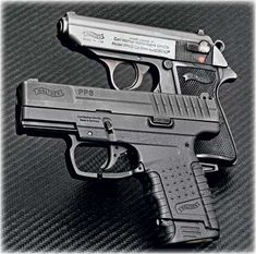 Walther PPS and PPK. eat your heart out James Bond.