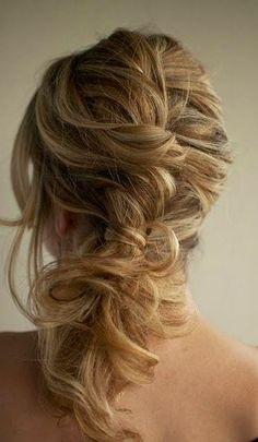 Braided messy hair...Love this!