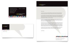 Human Resource Management Business Card & Letterhead Template Design | StockLayouts