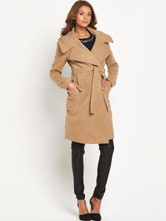 Pin for Later: Get the Must-Have Camel Coat Before the Autumn Shopping Rush Definitions Wool Wrap Coat  Definitions Wool Wrap Coat (£89)