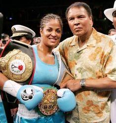 Laila and Muhammad Ali. Like father like daughter