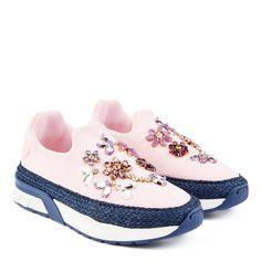 Slip-on shoes with Swarovski rhinestones