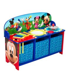 Superbe Kids Chair Desk Disney Mickey Mouse Play Table Seat Storage Toddler  Furniture | Toddler Furniture, Seat Storage And Table Seating