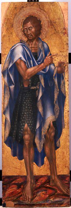Giovanni di Paolo - Altare Malavolti: San Giovanni Battista - tempera su tavola -  1426 - Siena, Pinacoteca Nazionale
