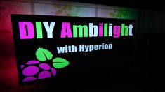 "DIY ""Ambilight"" effect with Hyperion. Works with HDMI/AV Sources 