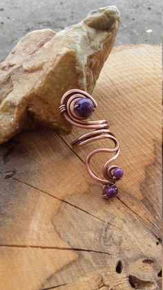 Simple copper wire wrapped ring with purple Jade beads,Copper wire ring,Bohemian ring,Wire jewelry,Wire wrapped ring,Fairy ring,Fairy