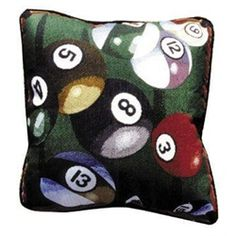 Let's Play Pool Billiards Decorative Accent Throw Pillow