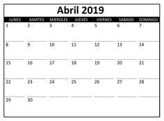 10 Calendario Abril 2019 Ideas Calendar Trending Decor October Calendar