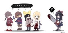 Yume Nikki x Undertale x Mogeko Castle x The Witch's House x Mad Father Rpg Maker, Maker Game, Game Character, Character Design, Call Of Cthulhu Rpg, Mad Father, Corpse Party, Rpg Horror Games, Star Wars Rpg