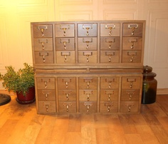 Library Card Catalog  Apothecary Cabinet  by TattedPicker on Etsy, $600.00